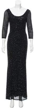 Jovani Embellished Long Sleeve Gown