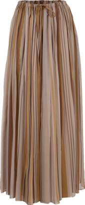 Brunello Cucinelli Stripe Chiffon Drawstring Maxi Skirt