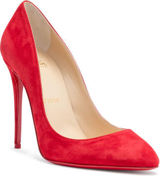 Christian Louboutin Eloise 100 Red Suede Pumps