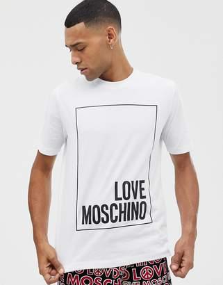 Love Moschino box logo t-shirt