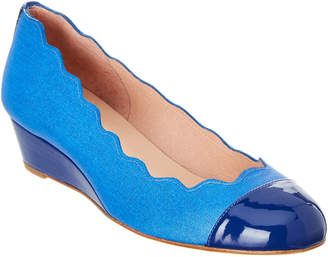 French Sole Miles Patent Trim Wedge