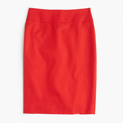J.Crew No. 2 pencil skirt in bi-stretch cotton