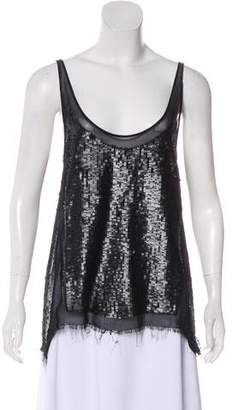 AllSaints Sleeveless Sequin Top