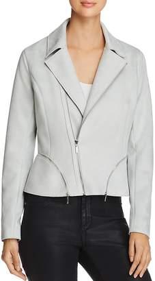 T Tahari Spears Faux-Suede Moto Jacket