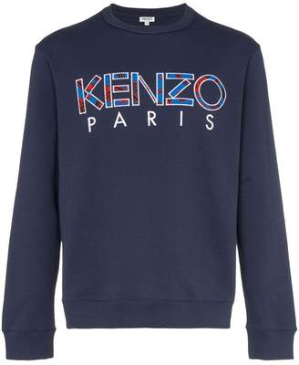 c72a9f12 Kenzo logo-embroidered cotton sweatshirt