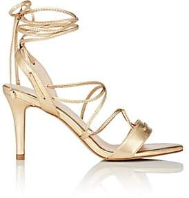 Barneys New York WOMEN'S SHELIA METALLIC LEATHER SANDALS