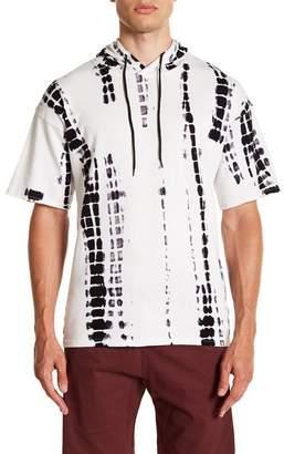 Public Opinion Tie Dye Short Sleeve Hoodie