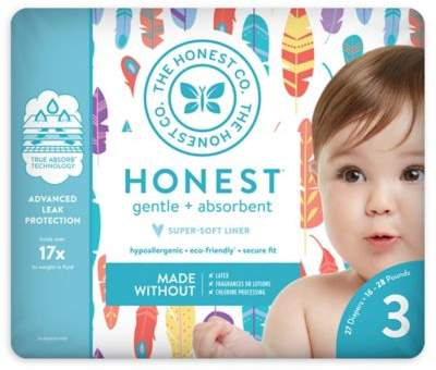 The Honest Company Honest 27-Pack Size 3 Diapers in Painted Feathers Pattern