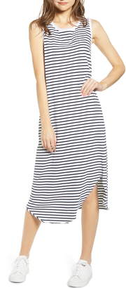 Frank And Eileen Stripe Relaxed Asymmetrical Hem Tank Dress