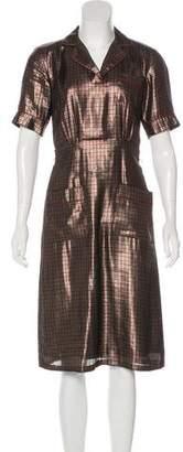 Marc Jacobs Houndstooth Lamé Dress