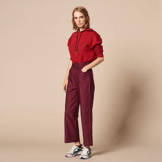 Sandro Belted high-waisted trousers