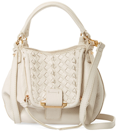 Jonnie Mini Woven Leather Crossbody $278 thestylecure.com