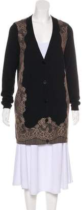 Valentino Lace Trimmed Cardigan