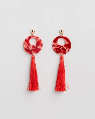 Missguided Perspex Tassel Earrings