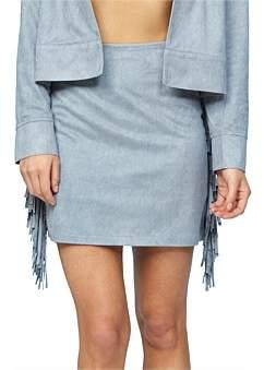 MinkPink Suede Tassle Skirt