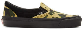Vans Black Camo OG Classic Slip-On Sneakers