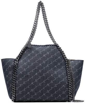 5fc2d108bce Stella McCartney denim blue Falabella mini chain trim denim tote bag