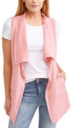 Time and Tru Women's Drape Front Vest
