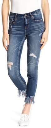 Vigoss Frayed Hem Skinny Jeans