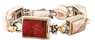 Mother of Pearl Michael Dawkins & Coral Bracelet