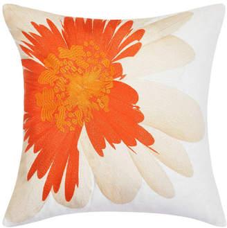 Trina Turk Palm Desert Soft Daisy Cantaloupe Square Pillow
