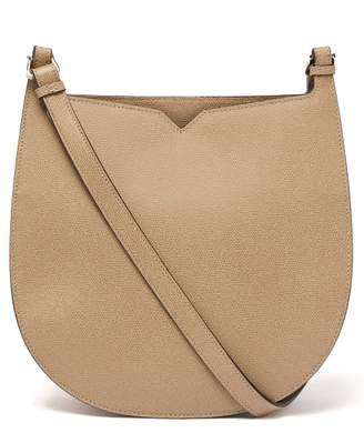 Valextra Hobo Weekend Grained Leather Shoulder Bag - Womens - Beige