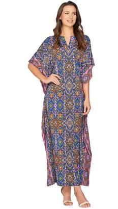 Joan Rivers Classics Collection Joan Rivers Regular Length Spice Market Jersey Knit Caftan