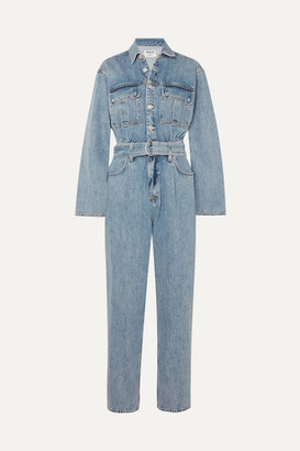 A Gold E Agolde AGOLDE - Tatum Belted Denim Jumpsuit - Mid denim