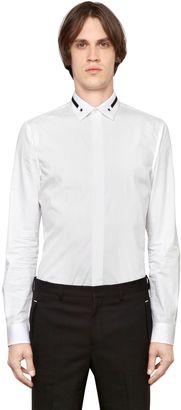 Embroidered Collar Cotton Poplin Shirt $394 thestylecure.com