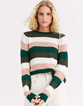 Only stripe long sleeve jumper