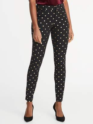 Old Navy Mid-Rise Pixie Jacquard Ankle Pants for Women