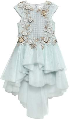 Floral Embellished Tulle Party Dress