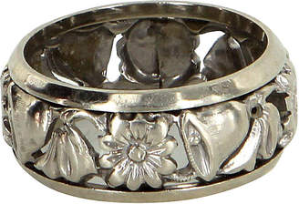One Kings Lane Vintage Bell and Flower Art Deco Wedding Band