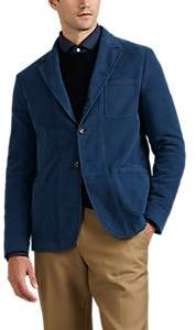 Boglioli Men's Galleria Cotton Moleskin Three-Button Sportcoat - Blue