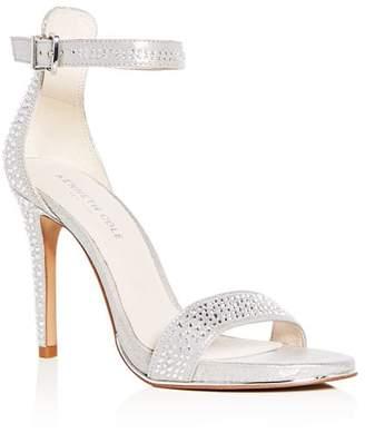Kenneth Cole Women's Brooke Shine Embellished Ankle Strap High-Heel Sandals