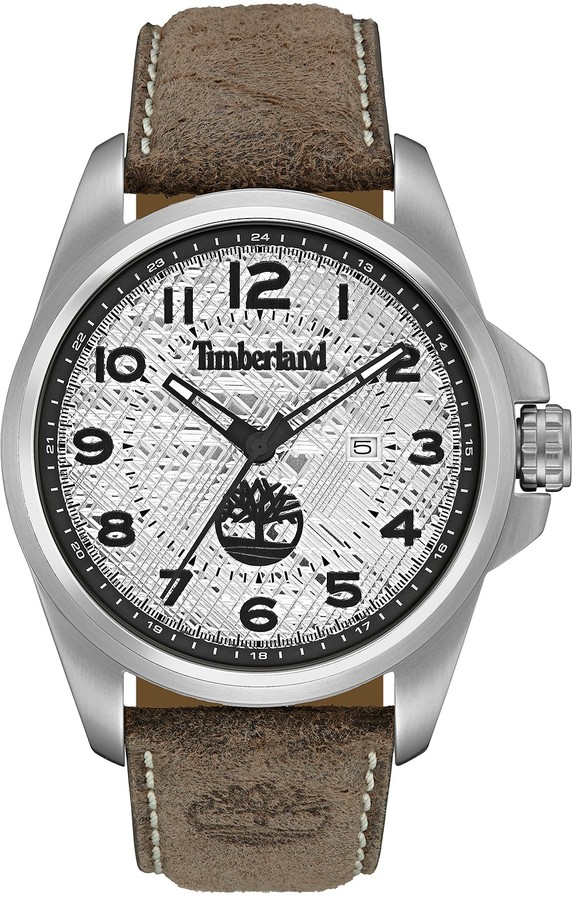 Timberland Timberland Men's Leyden Leather Strap Watch