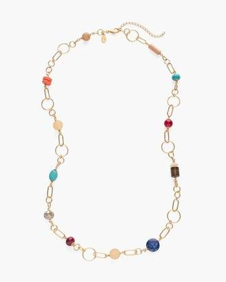 Chico's Chicos Long Multi-Colored Beaded Necklace