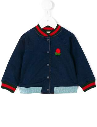 Gucci Kids denim bomber jacket