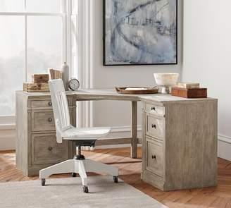 Pottery Barn Livingston Corner Desk Top & Legs