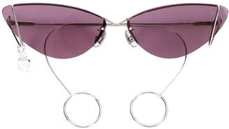 Cat Eye Justine Clenquet Laurie sunglasses