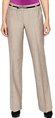 JCPenney Worthington® Belted Pleather-Trim Pants - Petites