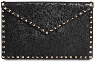 Valentino Rockstud Embellished Envelope Pouch
