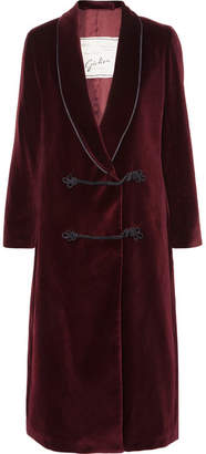 Giuliva Heritage Collection - Claudia Cotton-velvet Coat - Burgundy