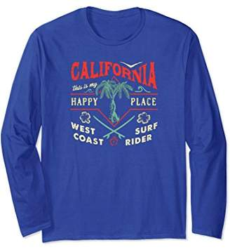 Vintage California Is My Happy Place Long Sleeve Shirt