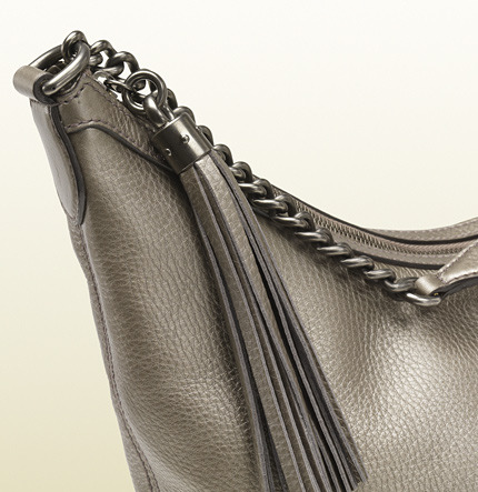 Gucci Soho Metallic Leather Chain Shoulder Bag