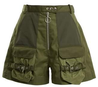 Marques Almeida MARQUES'ALMEIDA Patch-pocket high-rise shorts