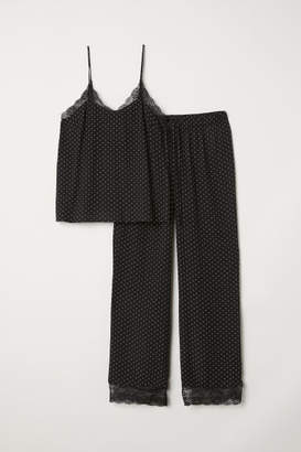 H&M Pajama Camisole Top and Pants - Black