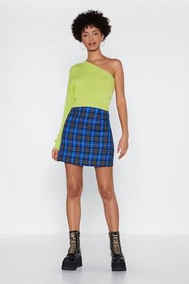 Nasty Gal Check On It Mini Skirt