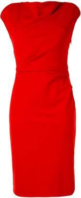 Paule Ka cap sleeve fitted dress