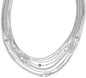 """Karl Lagerfeld Paris Safety Pin & Pearl Multi Strand Necklace, 18"""""""